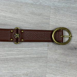 Cole Haan Pebbled Leather Brown Belt